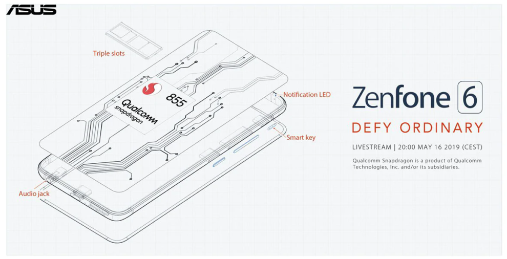 Asus Zenfone 6 featuring 48MP Camera, 5,000 mAh battery and Snapdragon 855 SoC to release soon